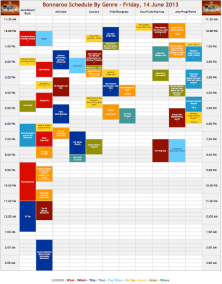 Bonnaroo Schedule By Genre - Friday, 14 June 2013 | Das Groupie